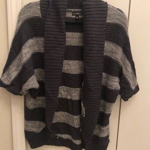 Express cozy light/dark gray cardigan